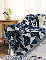 baratos -almofada do sofá Geométrica / Clássico Jacquard Algodão Capas de Sofa