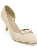Недорогие -Жен. Балетки Полиуретан Весна Обувь на каблуках На шпильке Белый / Черный / Бежевый