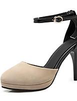 Недорогие -Жен. Комфортная обувь Синтетика Весна Обувь на каблуках На шпильке Черный / Синий / Миндальный