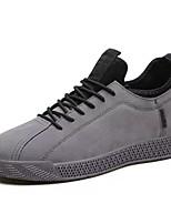Недорогие -Муж. Комфортная обувь Полиуретан Осень Кеды Серый / Черно-белый / Черный / Красный