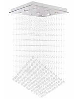 abordables -VALLKIN 9 lumières Cristal / Linéaire Lustre Lumière d'ambiance Plaqué Métal Cristal, Design nouveau 110-120V / 220-240V Blanc Crème / Blanc Neige