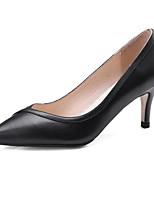 Недорогие -Жен. Балетки Наппа Leather Весна Обувь на каблуках На шпильке Белый / Черный / Коричневый