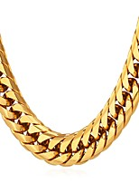 Недорогие -Муж. Толстая цепь Ожерелья-цепочки - Нержавеющая сталь Мода Золотой, Черный, Серебряный 55 cm Ожерелье Бижутерия 1шт Назначение Подарок, Повседневные