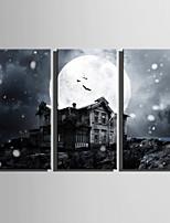 billiga -Tryck Stretchad Kanvastryck - Hus / Halloween Moderna