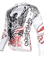 Недорогие -ILPALADINO Муж. Длинный рукав Велокофты - Белый Мода Велоспорт Джерси Верхняя часть, Флисовая подкладка Сохраняет тепло Ультрафиолетовая устойчивость, Зима, Эластан