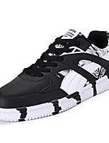 Недорогие -Муж. Комфортная обувь Полиуретан Осень Кеды Черный / Синий / Черный / Красный