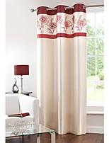 Недорогие -Шторы портьеры Спальня Цветочный принт 100% Полиэфир С принтом