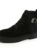 Недорогие -Жен. Fashion Boots Полиуретан Наступила зима На каждый день Ботинки На плоской подошве Круглый носок Ботинки Черный / Хаки