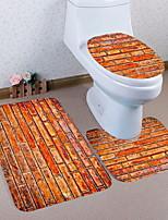 Недорогие -3 предмета Традиционный Коврики для ванной 100 г / м2 полиэфирный стреч-трикотаж Креатив Прямоугольная Ванная комната Очаровательный