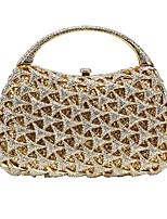 baratos -Mulheres Bolsas Liga Bolsa de Festa Detalhes em Cristal Dourado