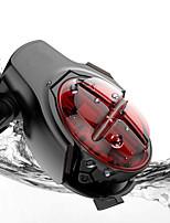 Недорогие -Задняя подсветка на велосипед Светодиодная лампа Велосипедные фары Велоспорт Водонепроницаемый, Регулируется, Быстросъемный Литий-ионная 160 lm Перезаряжаемая батарея / Работает от USB Красный