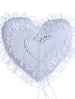 abordables -Tissu Denim Perle fausse / Nœud / Dentelle Tissu Oreiller d'anneau Mariage / Cœur Toutes les Saisons