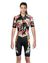 Недорогие -ILPALADINO Жен. С короткими рукавами Велокофты - Черный Мода Велоспорт спецодежда, Ультрафиолетовая устойчивость Эластан