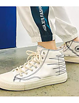 abordables -Homme Chaussures de confort Toile Printemps & Automne Basket Blanc / Noir / Rouge