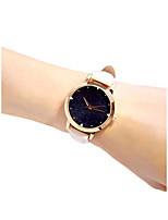 Недорогие -Жен. Наручные часы Кварцевый 30 m Новый дизайн Повседневные часы PU Группа Аналоговый На каждый день Мода Белый / Фуксия - Белый Пурпурный