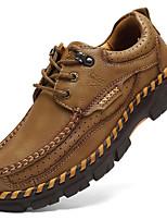 baratos -Homens Sapatos de couro Pele Napa Outono Vintage / Casual Oxfords Massgem Marron / Khaki