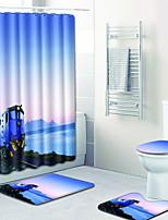 Недорогие -1 комплект Modern Коврики для ванной 100 г / м2 полиэфирный стреч-трикотаж Креатив Прямоугольная Ванная комната Очаровательный