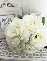 abordables -Fleurs artificielles 1 Une succursale Classique Moderne Roses Fleur de Table
