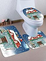 Недорогие -3 предмета Традиционный Коврики для ванны 100 г / м2 полиэфирный стреч-трикотаж Креатив нерегулярный Ванная комната Новый дизайн