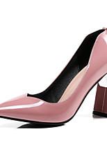 Недорогие -Жен. Комфортная обувь Лакированная кожа Весна Обувь на каблуках На шпильке Белый / Черный / Розовый