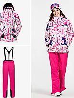 abordables -Vector Femme Veste & Pantalons de Ski Chaud, Protection contre les surcharges, Cap détachable Snowboard / Sports d'hiver Ecologique Polyester Veste Coquille souple / Pantalon de bavoir de neige Tenue