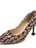 Недорогие -Жен. Комфортная обувь Синтетика Весна Обувь на каблуках На шпильке Черный / Темно-синий / Розовый