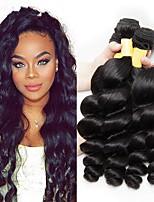 Недорогие -4 Связки Перуанские волосы Свободные волны 8A Натуральные волосы Человека ткет Волосы Пучок волос One Pack Solution 8-28 дюймовый Нейтральный Естественный цвет Ткет человеческих волос