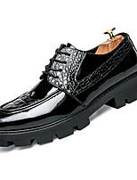 Недорогие -Муж. Комфортная обувь Искусственная кожа / Полиуретан Осень На каждый день Туфли на шнуровке Нескользкий Черный