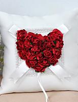 abordables -Tissu Fleur Satin Oreiller d'anneau Col bombé Toutes les Saisons