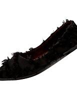 Недорогие -Жен. Комфортная обувь Полиуретан Зима На каждый день На плокой подошве На плоской подошве Белый / Черный / Бежевый