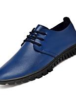 Недорогие -Муж. Комфортная обувь Полиуретан Осень Туфли на шнуровке Черный / Коричневый / Синий / Для вечеринки / ужина