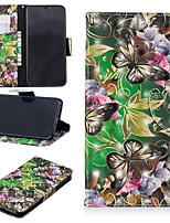 baratos -Capinha Para Apple iPhone XS / iPhone XS Max Carteira / Porta-Cartão / Com Suporte Capa Proteção Completa Borboleta Rígida PU Leather para iPhone XS / iPhone XR / iPhone XS Max