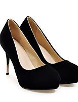 Недорогие -Жен. Балетки Замша Весна Обувь на каблуках На шпильке Черный / Красный
