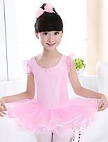 abordables -Danse classique Robes Fille Entraînement / Utilisation Coton / Polyester Noeud(s) / Dentelle Sans Manches Taille moyenne Robe