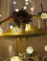 Недорогие -1m Гирлянды 10 светодиоды Тёплый белый Декоративная Солнечная энергия 1 комплект