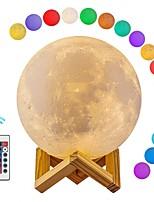 Недорогие -1шт MOON LED Night Light / 3D ночной свет / Детский ночной свет RGB + белый USB Для детей / Перезаряжаемый / Диммируемая <5 V