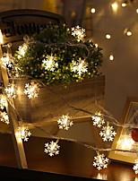 Недорогие -6м Гирлянды 40 светодиоды Тёплый белый Декоративная Аккумуляторы AA 1 комплект