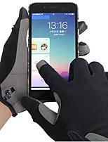 Недорогие -Спортивные перчатки Спортивные перчатки / Перчатки для велосипедистов / Перчатки для сенсорного экрана С защитой от ветра / Сохраняет тепло / Пригодно для носки Полный палец