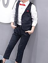 Недорогие -Дети Мальчики Классический Горошек Без рукавов Хлопок Набор одежды Белый 110