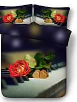 Недорогие -Пододеяльник наборы 3D Полиэфир / полиамид Активный краситель 3 предмета