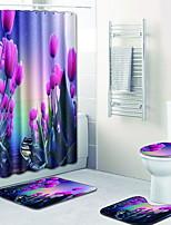 Недорогие -1 комплект Modern Коврики для ванны 100 г / м2 полиэфирный стреч-трикотаж Креатив / Цветочный принт Прямоугольная Ванная комната обожаемый