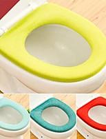 abordables -2pcs doux chaud long peluche couverture de siège de toilette tapis tapis couvercle confortable lavable plus chaud santé toilettes mostool couverture de siège couleur aléatoire