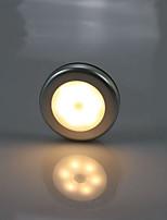 Недорогие -1 комплект Умный ночной свет Тёплый белый / Холодный белый Аккумуляторы AAA Датчик человеческого тела / Кухонный шкаф Батарея / <5 V