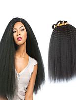 Недорогие -4 Связки Бразильские волосы Вытянутые 8A Натуральные волосы Подарки Головные уборы Удлинитель 8-28 дюймовый Черный Естественный цвет Ткет человеческих волос Машинное плетение