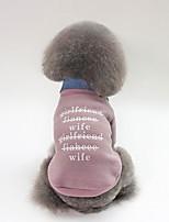 baratos -Cachorros Casacos Roupas para Cães Personagem / Slogan Fúcsia / Verde / Rosa claro Felpudo Ocasiões Especiais Para animais de estimação Unisexo Casual / Aquecimento