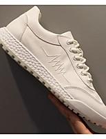 Недорогие -Муж. Комфортная обувь Сетка Весна & осень Кеды Белый / Черный