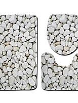 Недорогие -3 предмета Modern Коврики для ванны 100 г / м2 полиэфирный стреч-трикотаж Новинки Прямоугольная Ванная комната Милый
