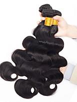 Недорогие -3 Связки Бразильские волосы Перуанские волосы Естественные кудри человеческие волосы Remy Необработанные натуральные волосы Подарки Косплей Костюмы Человека ткет Волосы 8-28 дюймовый Естественный цвет