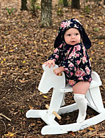 abordables -bébé Fille Fleur Manches Longues Une-Pièce