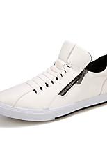 Недорогие -Муж. Комфортная обувь Полиуретан Осень На каждый день Кеды Нескользкий Золотой / Белый / Черный